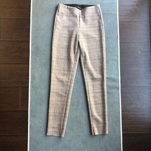 NWT Zara basic plaid camel pants